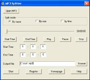 MP3 Splitter Screen shot