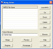 Mpeg Joiner Screen shot