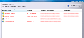 Recover software license keys and serial