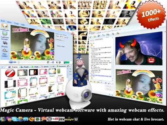 add effects to webcam video