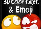Color Text, Animated 3D Emoji & Multi Emoticons logo