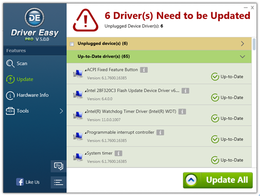 Update Drivers Using Driver Easy screenshot 2